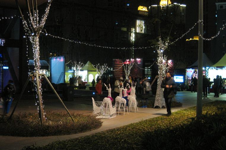 Weihnachtsmarkt in Shanghai